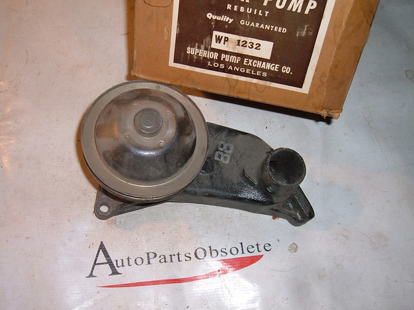 View Product1950 51 52 53 ford 52 53 mercury v-8 water pump rebuilt # 1232 (z 1232)