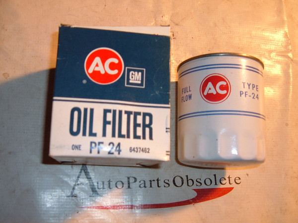 1960 -71 Pontiac Firebird Trans Am GTO embossed white oil filter pf24