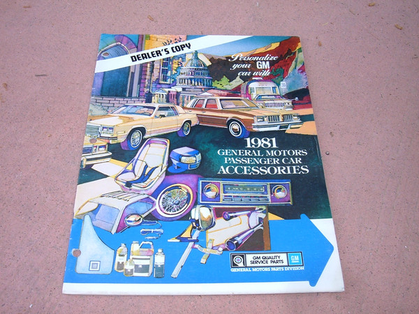 1981 chevrolet monte carlo caprice camaro accessory dealer catalog (z 81 chev car acc book)
