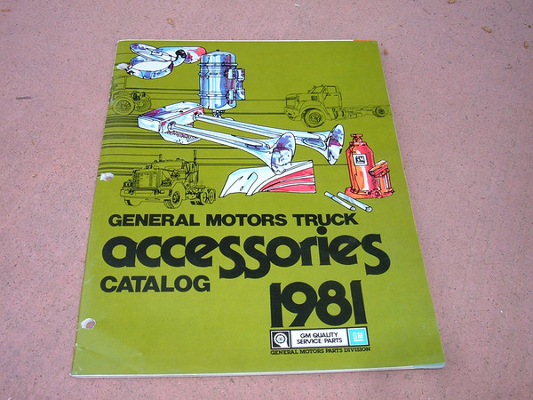 View Product1981 chevrolet truck / pickup accessory dealer catalog (z 81 chevr truck cat)