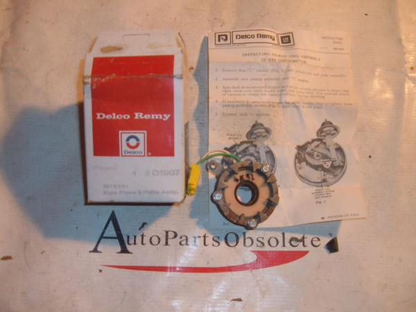 1976 78 80 82 84 chevrolet pontiac oldsmobile pole & plate 1875981 (z 1875981)