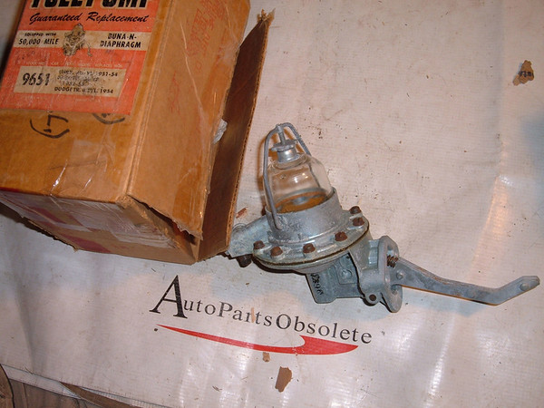 1951 52 53 54 55 Desoto Chrysler glass bowl fuel pump #9651 (z 9651)