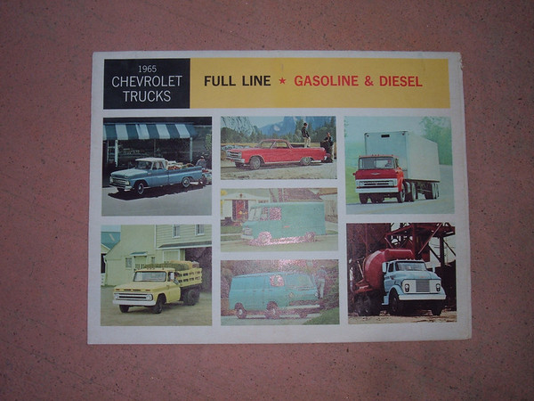 1965 chevrolet truck dealer sales brochure (z 65chevtruckfoldbro)