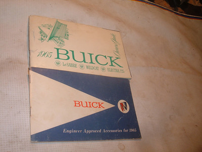 1965 buick owners manual accesssory booklet (za 65buickownman)