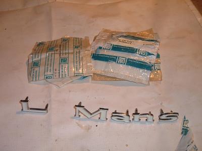 1969 pontiac lemas fender letters nos 9798370 (z 9798370)