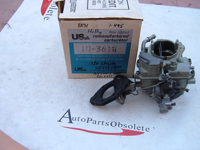 1980 dodge plymouth chrysler 1 barrel carburetor holley 8831
