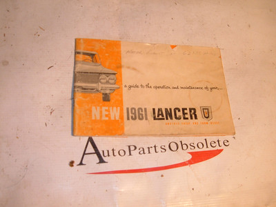 1961 dodge lancer owner manual (za 61lancermanual)