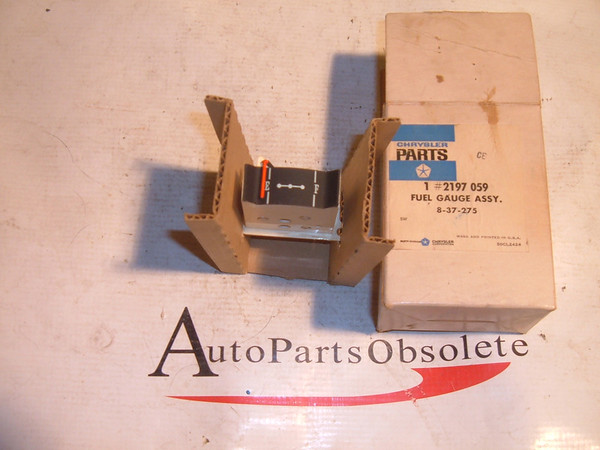 View Product61 62 dodge desoto gas/fuel gauge nos mopar # 2197059 (z 2157059)