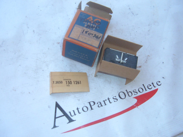 1950 cadillac ammeter gauge dash unit nos gm # 1501261 (z 1501261)