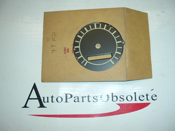 1949,1950 ford passenger car speedometer face nos ford king sealey # 19351 (az 19351)