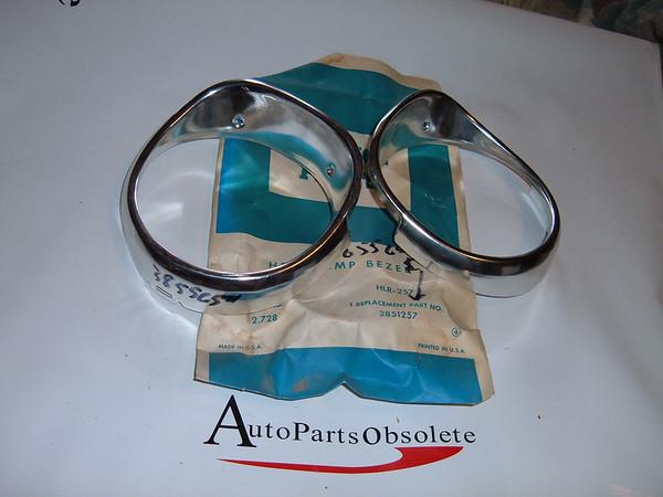 1965 chevrolet impala caprice headlight door /covers part # 3851257/3855653