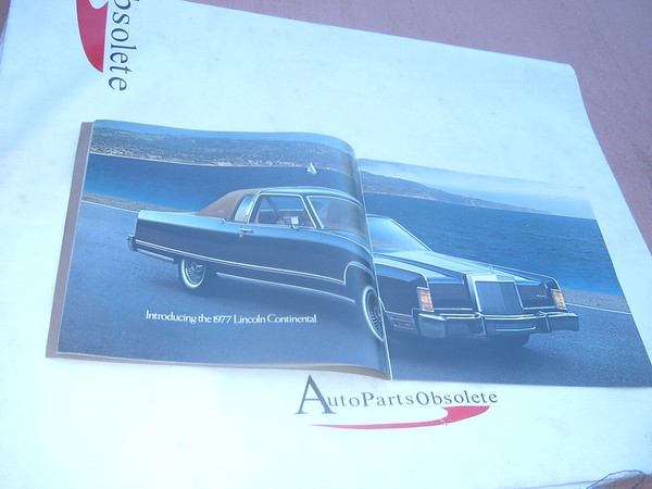 1977 lincoln continental sales brochure dealer. (z 77 lincoln brochure)
