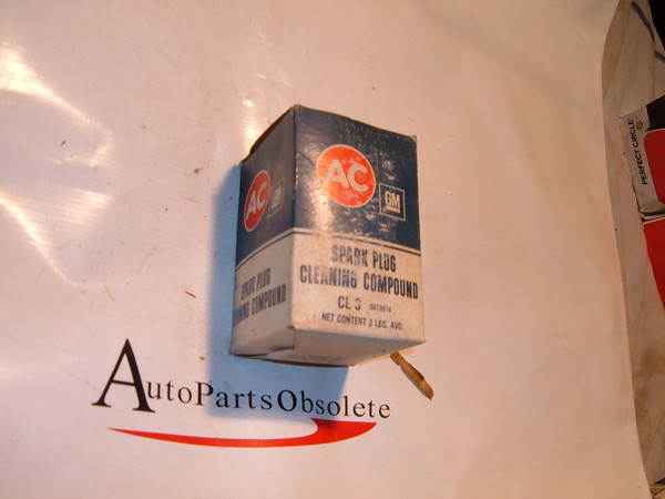 60.s 70.s gm spark plug cleaning compound box nos ac delco part # 5613014 (z 5613014)