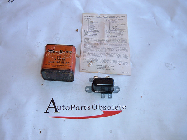 1938,1940,146,1948,1950,1952,1954 cadillac, chevrolet headlight lighting relay nos gm # 1116789 (z 1116789)