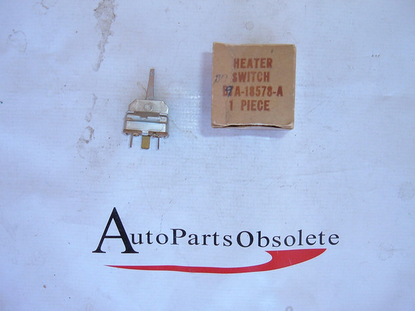 1957,1958,1959 ford heater/air conditioning blower switch nos ford # B9A 18578 A (z b9a18578a)