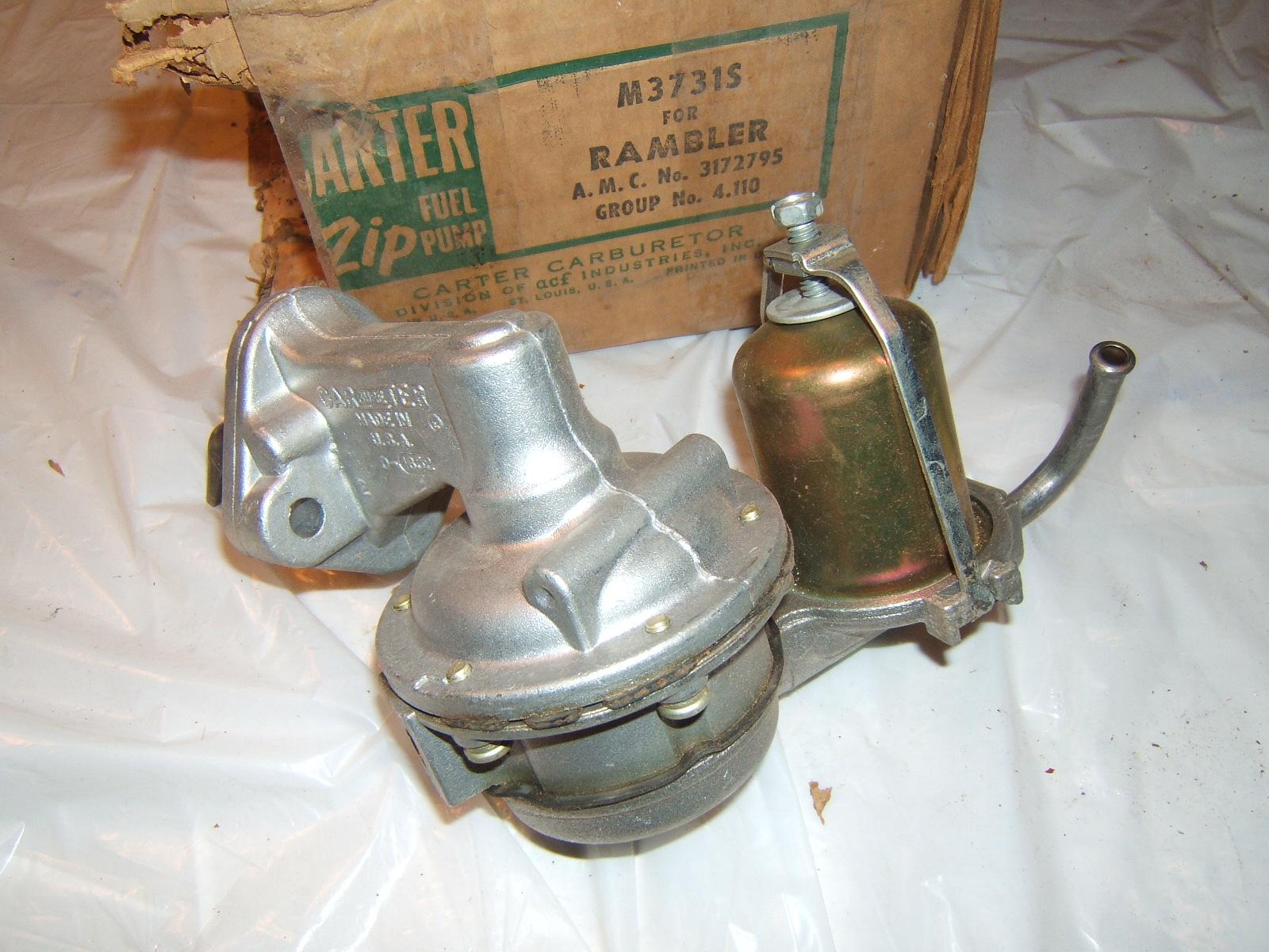 1964 1965 Rambler 196 fuel pump Carter 3731 (a 3731)