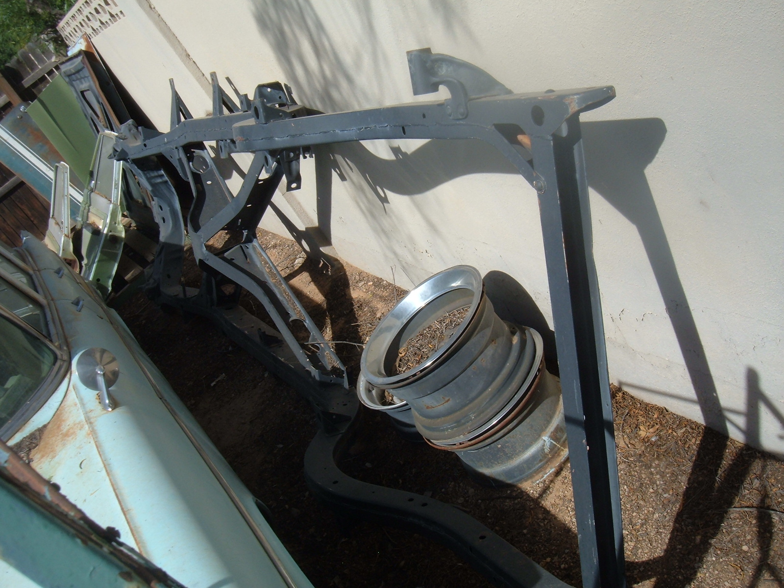 1957 chevrolet convertible frame assembly good original