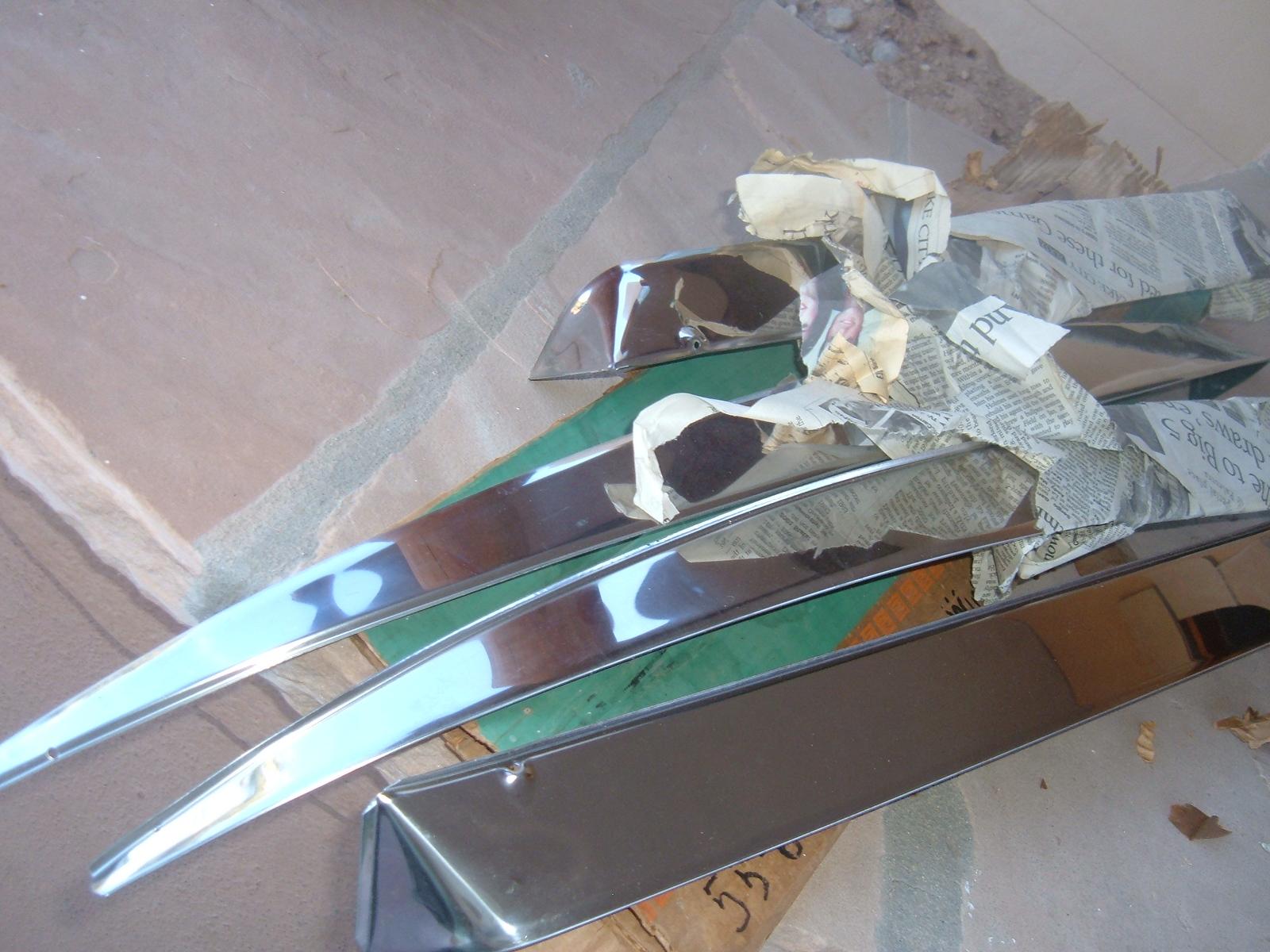 1959 60 chevrolet impala .belair window vent shade set accessory nos gm # 987929 (z 987929)