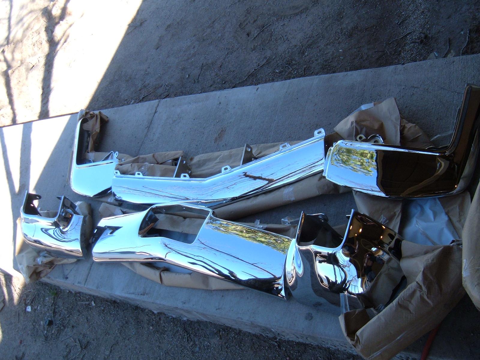 View Product1962 cadillac rechromed front bumper 6 parts (z 62 cad bumper)