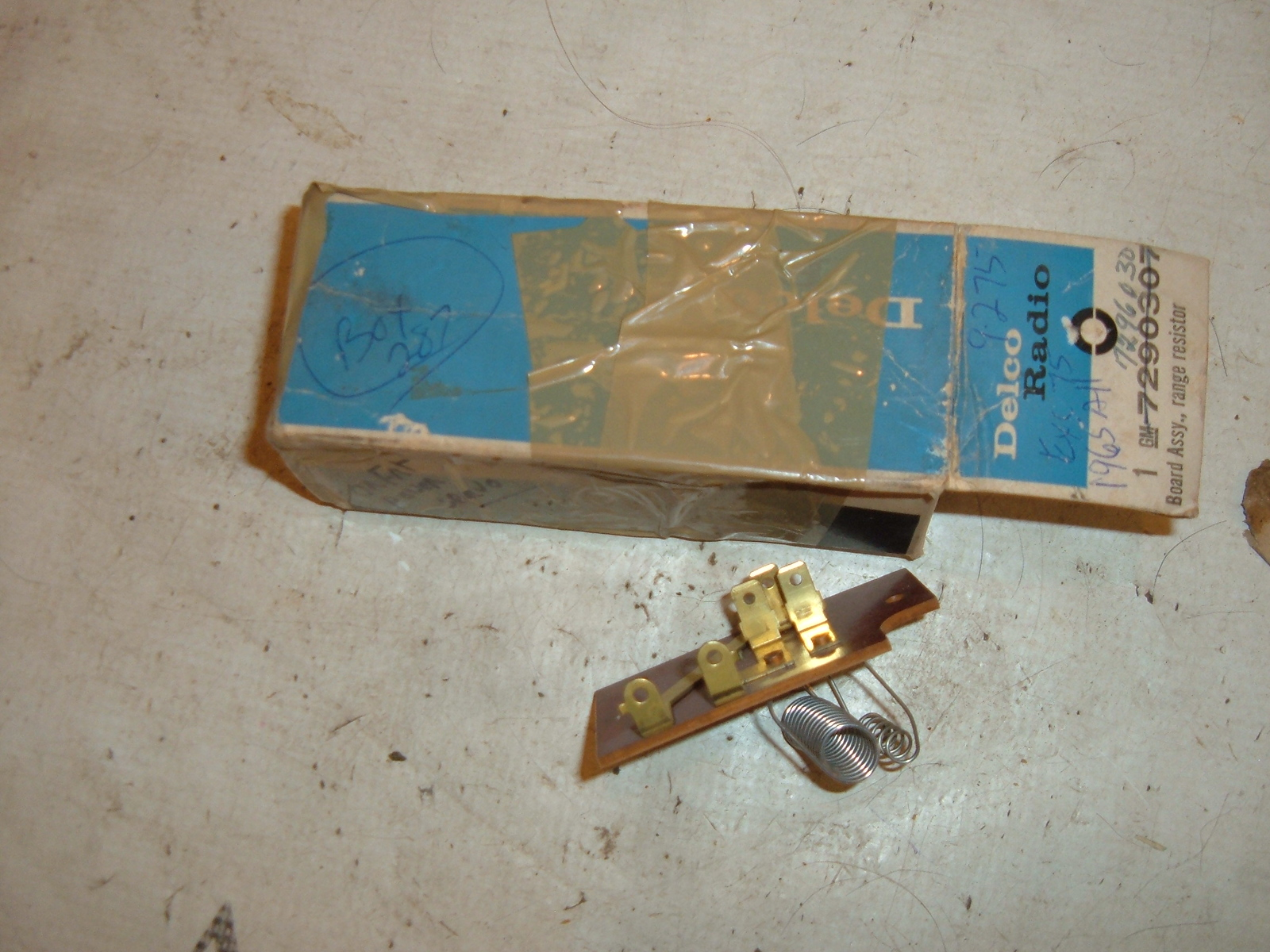 1965 cadillac air conditioning blower relay nos gm # 7296030 (z 7296030)