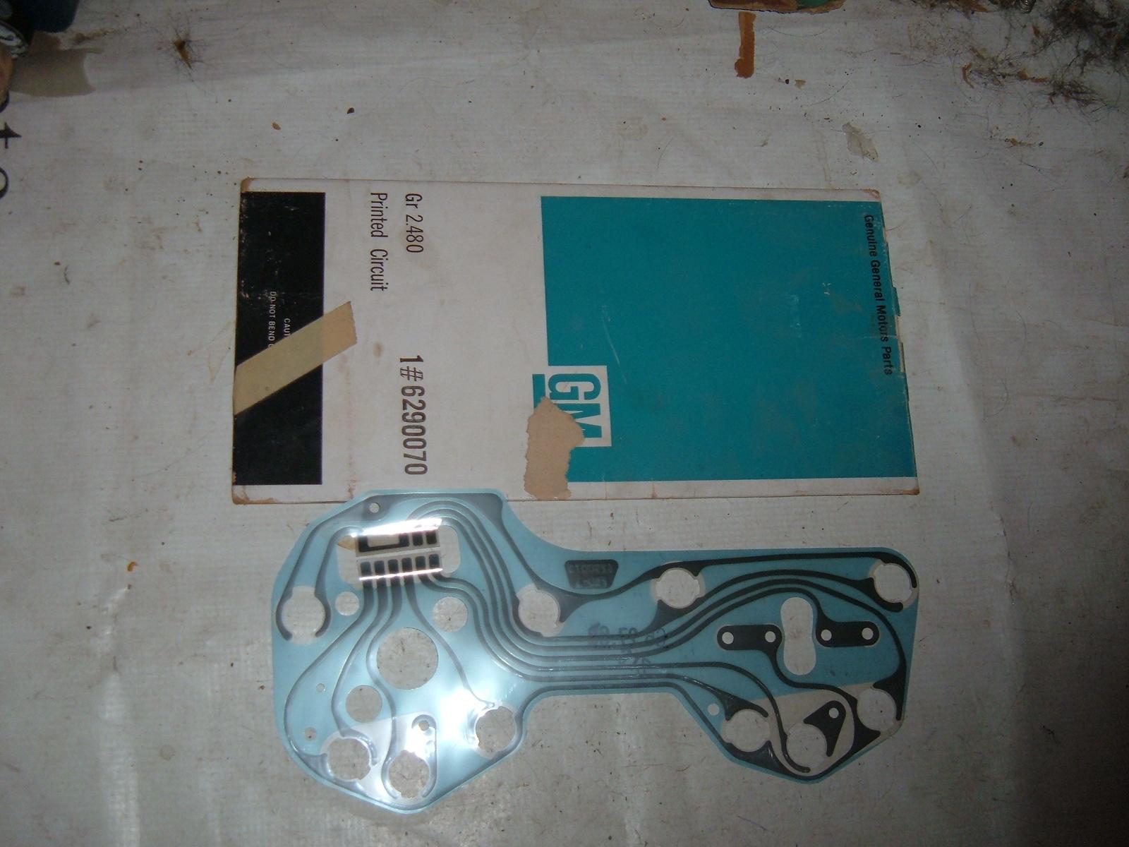 1967 68 camaro firebird printed dash circuit board nos gm 6290070