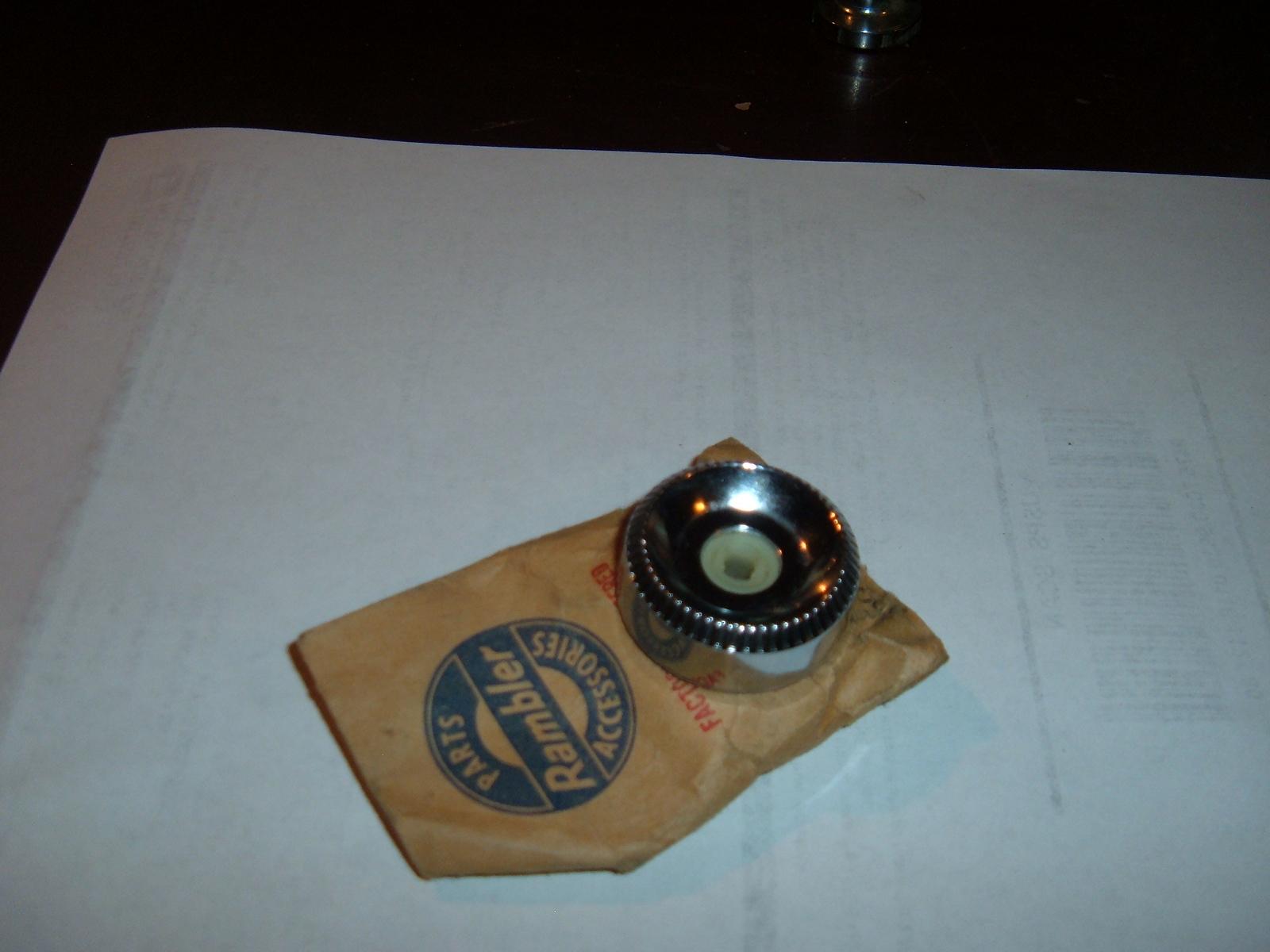 1964 65 rambler classic american marlin station selector speaker knob nos # 3500747 (z 3500747)