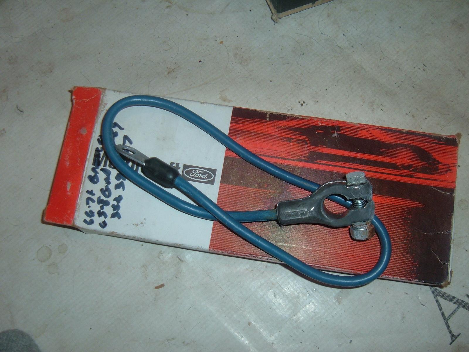 1965 66 67 68 69 70 71 ford galaxie bronco battery cable nos ford D1PZ-14300-C (z d1pz13400c)