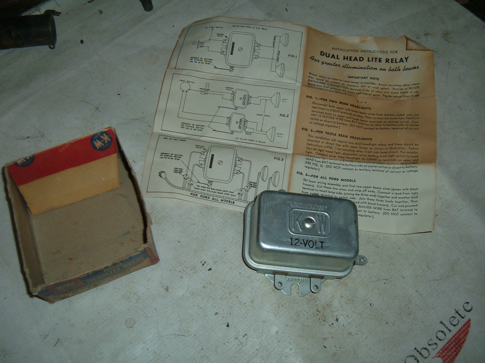 View Product1936 50 ford chevrolet studebaker dual headlight relay 12vt (z lr12)